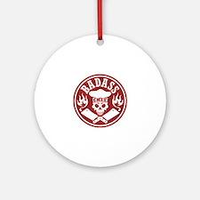Badass Chef Red Round Ornament