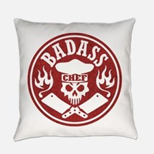 Badass Chef Red Everyday Pillow