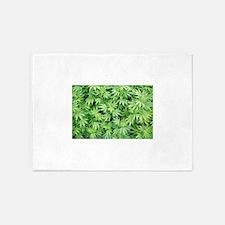 Marijuana Plant 5'x7'Area Rug