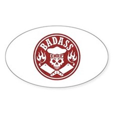 Badass Chef Red Decal