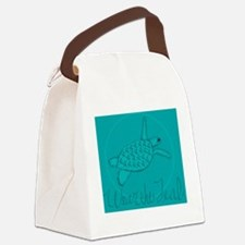 Wear the Teal Canvas Lunch Bag
