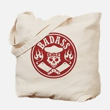 Badass Chef Red Tote Bag