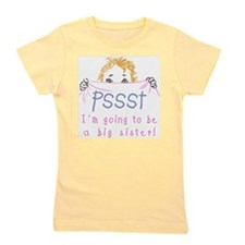 Cute I'm going to be a big sister Girl's Tee