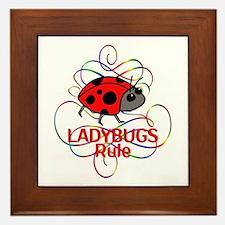 Ladybugs Rule Framed Tile