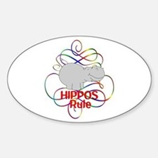 Hippos Rule Decal