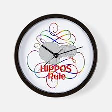 Hippos Rule Wall Clock