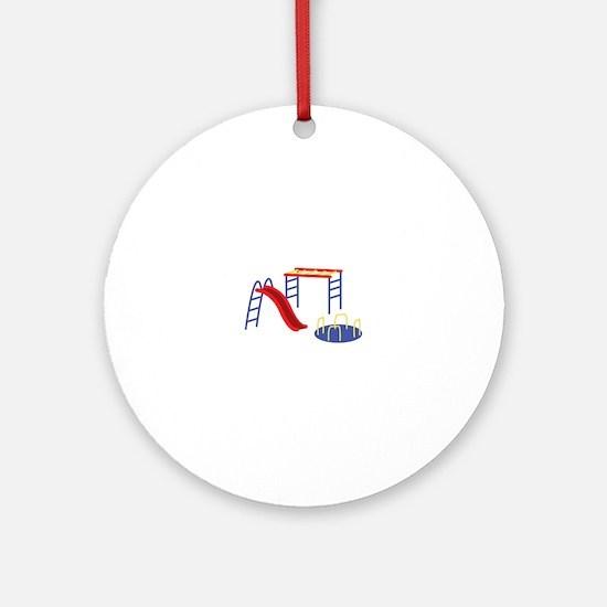 Playground Equipment Round Ornament