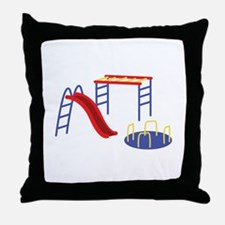 Playground Equipment Throw Pillow