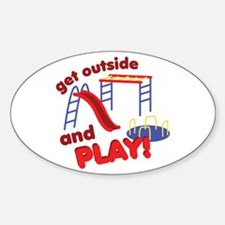 Outside And Play Decal