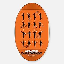 Arrested Development Chicken Dance Sticker (Oval)