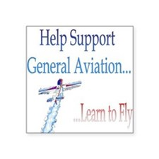 """Funny Helicopter pilot Square Sticker 3"""" x 3"""""""