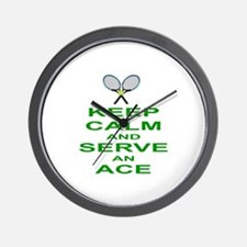 TENNIS - KEEP CALM AND SERVE AN ACE Wall Clock