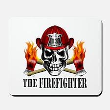 Firefighter Skull 3 Mousepad