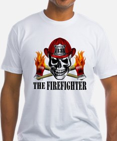 Firefighter Skull 3 T-Shirt