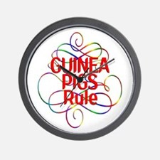 Guinea Pigs Rule Wall Clock