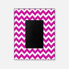 Hot Pink Chevron Pattern Picture Frame