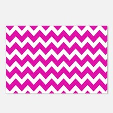 Hot Pink Chevron Pattern Postcards (Package of 8)