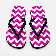 Hot Pink Chevron Pattern Flip Flops