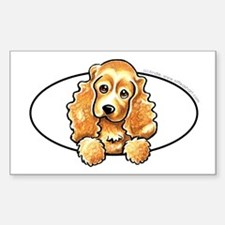 Cute Cocker spaniel Sticker (Rectangle)