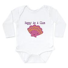 Funny Pink Long Sleeve Infant Bodysuit