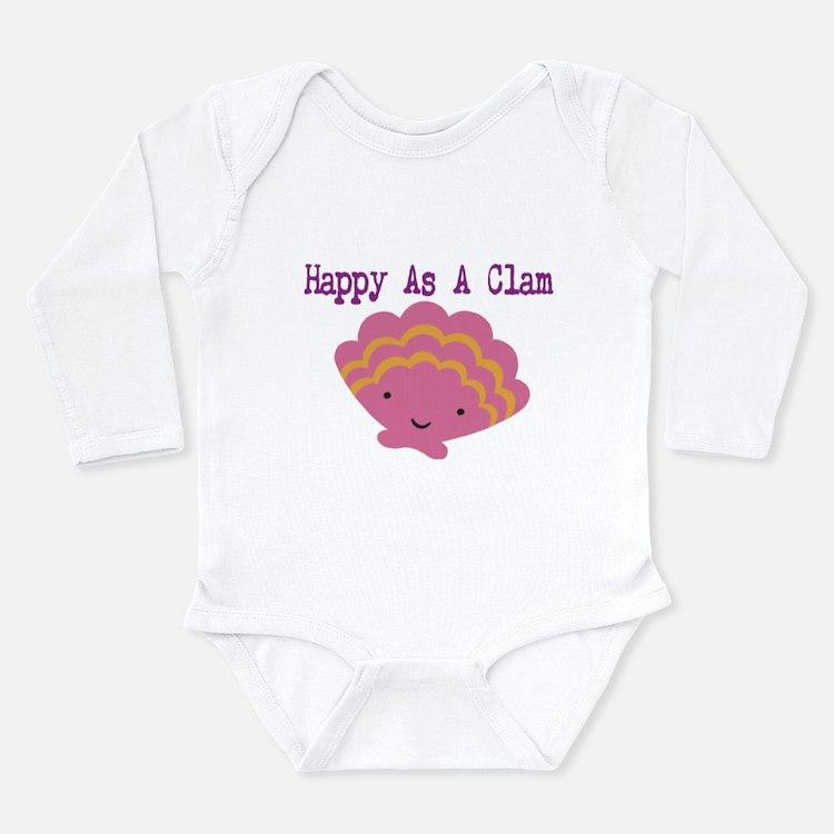 Cute Clam Long Sleeve Infant Bodysuit