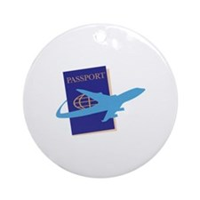 Passport Round Ornament