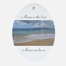 Makena Beach Oval Ornament