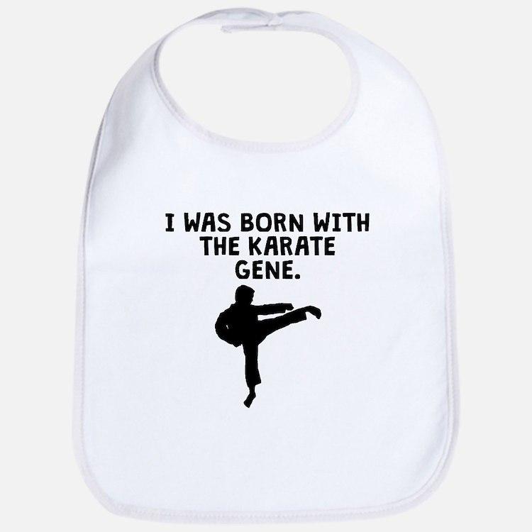 Born With The Karate Gene Bib