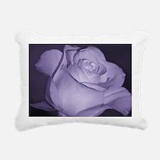 Purple Tint Rose Rectangular Canvas Pillow