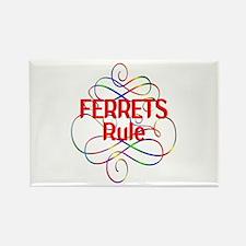 Ferrets Rule Rectangle Magnet