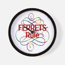 Ferrets Rule Wall Clock
