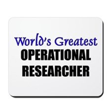 Worlds Greatest OPERATIONAL RESEARCHER Mousepad