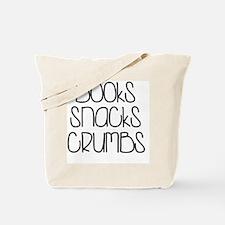 Books Snacks Crumbs Tote Bag