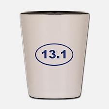 13.1 Blue oval Shot Glass