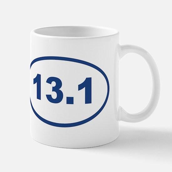 13.1 Blue oval Mugs