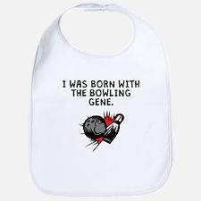 Born With The Bowling Gene Bib