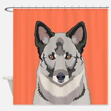 Norwegian Elkhound Shower Curtain