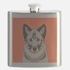Norwegian Elkhound Flask