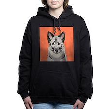 Norwegian Elkhound Women's Hooded Sweatshirt