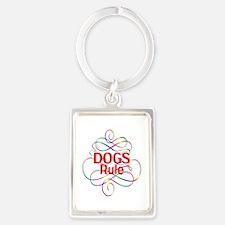 Dogs Rule Portrait Keychain
