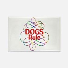 Dogs Rule Rectangle Magnet (100 pack)
