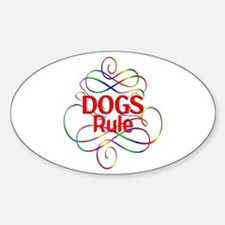 Dogs Rule Bumper Stickers