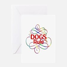 Dogs Rule Greeting Card