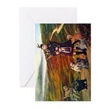 Cute Bagpipes Greeting Cards (Pk of 10)