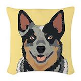 Australian cattle dog Woven Pillows