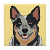 Australian cattle dog Tile Coasters