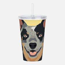 Australian Cattle Dog Acrylic Double-wall Tumbler