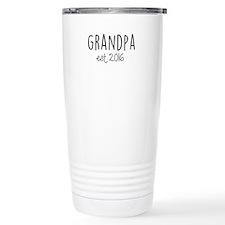 Grandpa Est. 2016 Travel Coffee Mug