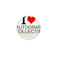 I Love Autograph Collecting Mini Button
