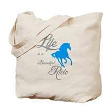 Funny Rescued horse Tote Bag